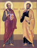 29 чэрвеня - Урачыстасьць сьвятых Апосталаў Пятра і Паўла