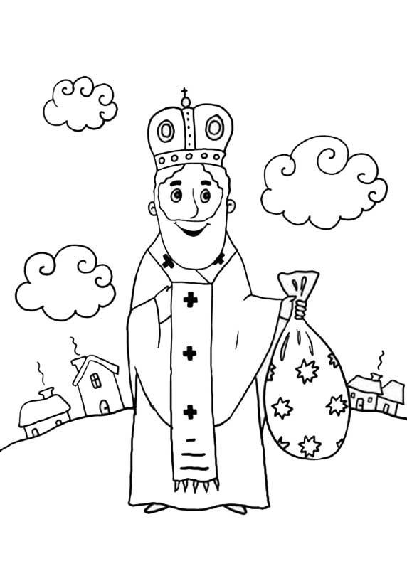 Детские раскраски святой николай