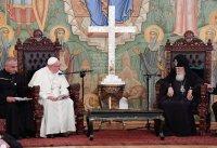 Яго Святасць Папа Францішак сустрэўся з Каталікосам Грузінскай Праваслаўнай Царквы Яго Святасцю Ільёй ІІ