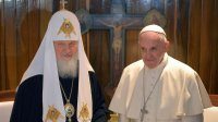 Папа і Патрыярх Маскоўскі размаўлялі пра сітуацыю ў Сірыі