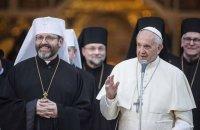 Папа Францішак павіншаваў грэка-католікаў і праваслаўных з Пасхай