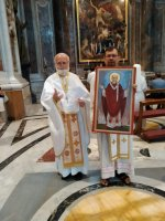 Малітва за Беларусь на магіле св. Яна Паўла ІІ