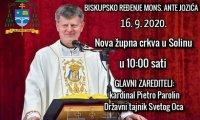Апостальскі нунцый у Беларусі Антэ Ёзіч прыме біскупскае пасвячэнне