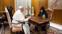 Пантыфік прыняў у Ватыкане Каталікоса ўсіх армян